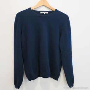 100% Cashmere Super Soft Crew-Neck Sweater (Navy)